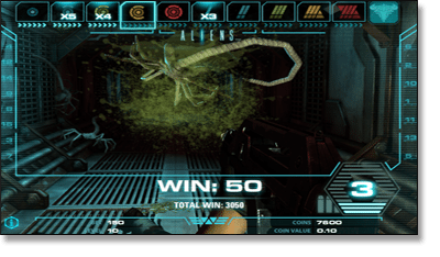 Aliens Online Slot Game