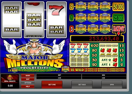 Major Millions 3-Reel Slot