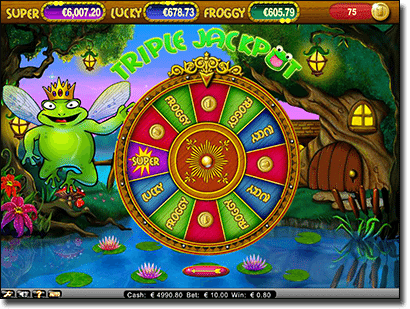 Triple Jackpot Super Lucky Frogs AUD Prizes